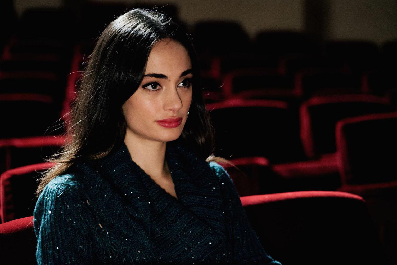 Denise Capezza set Cinema film regia di Stefano Incerti con Salvatore Striano