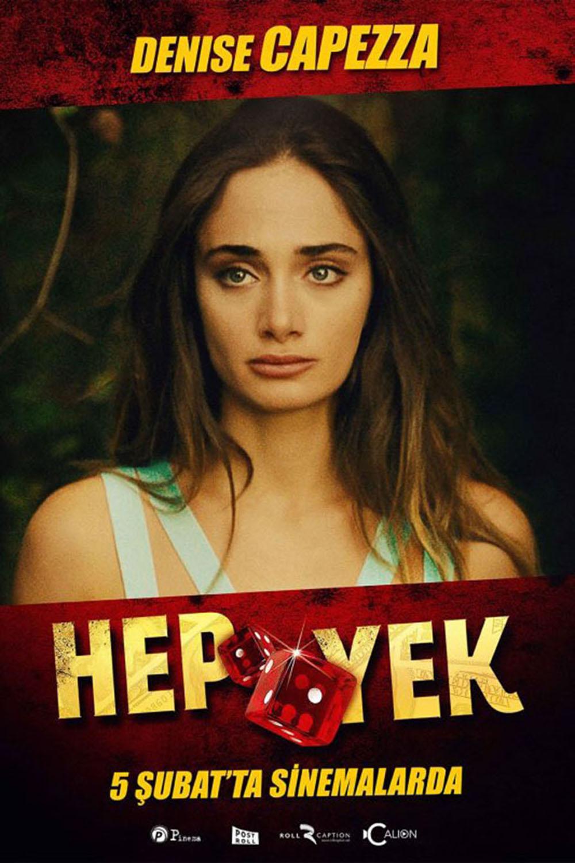 Denise Capezza film Hep Yek by Ali Yorgancioglu with Gokhan Yikilkan Ulas Torun Firat Tanis