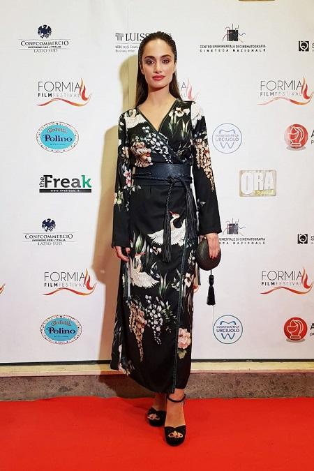 Denise Capezza al Formia Film Festival 2017 red carpet vestito Marinella Gomorra La serie