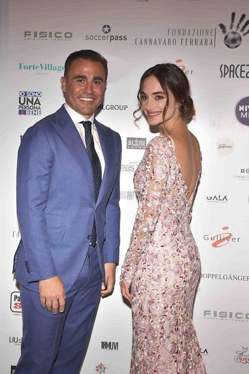 Gala Charity Night Fondazione Cannavaro Ferrara Denise Capezza attrice Gomorra Marinella vestito